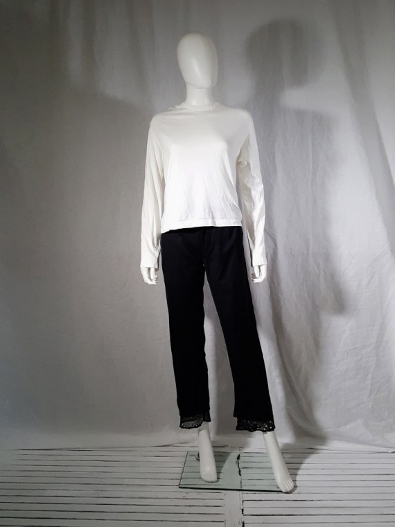 vintage Comme des Garcons white longsleeve with back braid spring 2003163035
