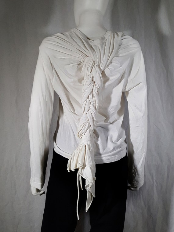 vintage Comme des Garcons white longsleeve with back braid spring 2003163255(0)