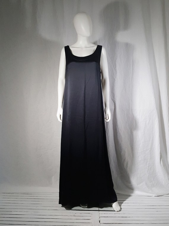 vintage Maison Martin Margiela dark blue dress with exposed stitching spring 2002 190814