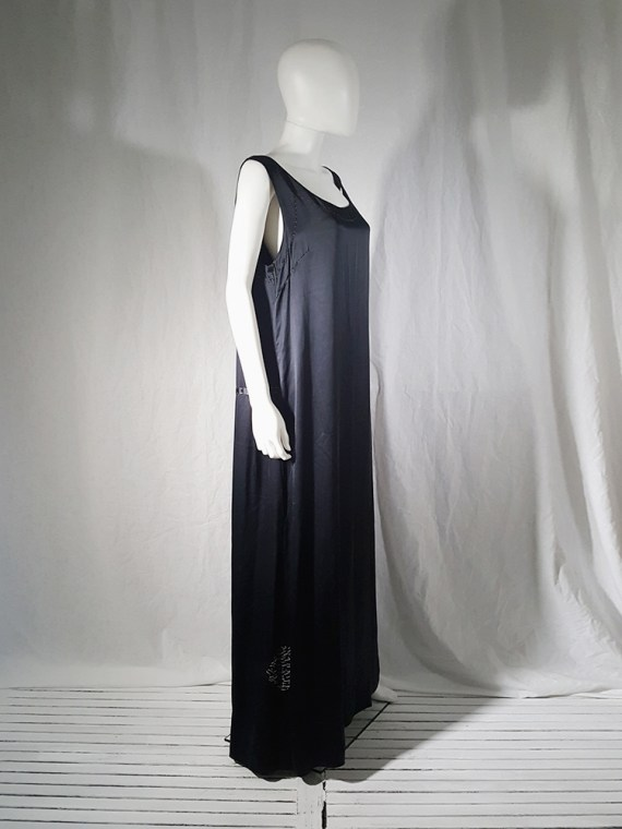 vintage Maison Martin Margiela dark blue dress with exposed stitching spring 2002 190930