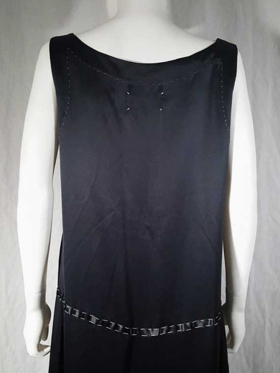 vintage Maison Martin Margiela dark blue dress with exposed stitching spring 2002 191219(0)
