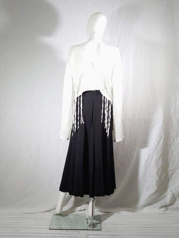 archive Dries Van Noten black front pleated skirt early 90s 162426