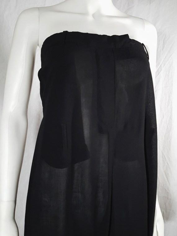 vintage 1990s Ann Demeulemeester black strapless jumpsuit 165500