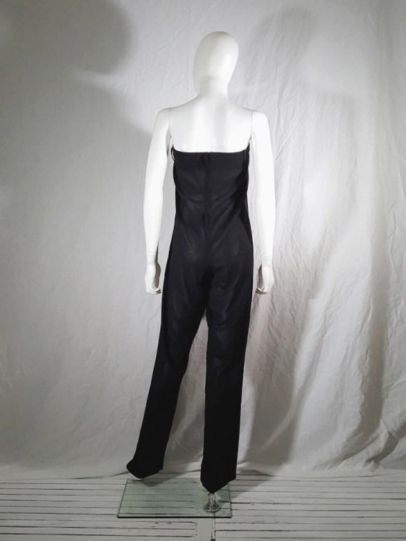 vintage 1990s Ann Demeulemeester black strapless jumpsuit 165653