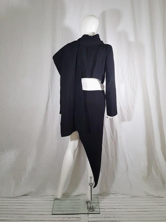 vintage Ann Demeulemeester black draped shawl jacket fall 2006 131558