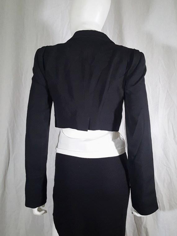 vintage Ann Demeulemeester black draped shawl jacket fall 2006 131731