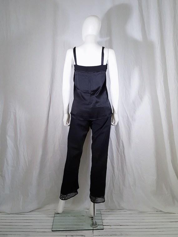 vintage Ann Demeulemeester black tie-front draped top spring 2002 143122(0)