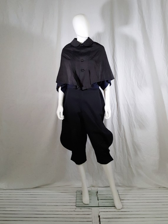 vintage Comme des Garcons black short cape spring 2010 140008