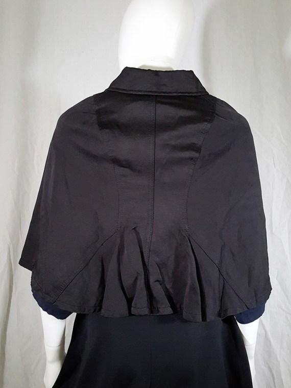 Comme des Garçons black short cape — spring 2010