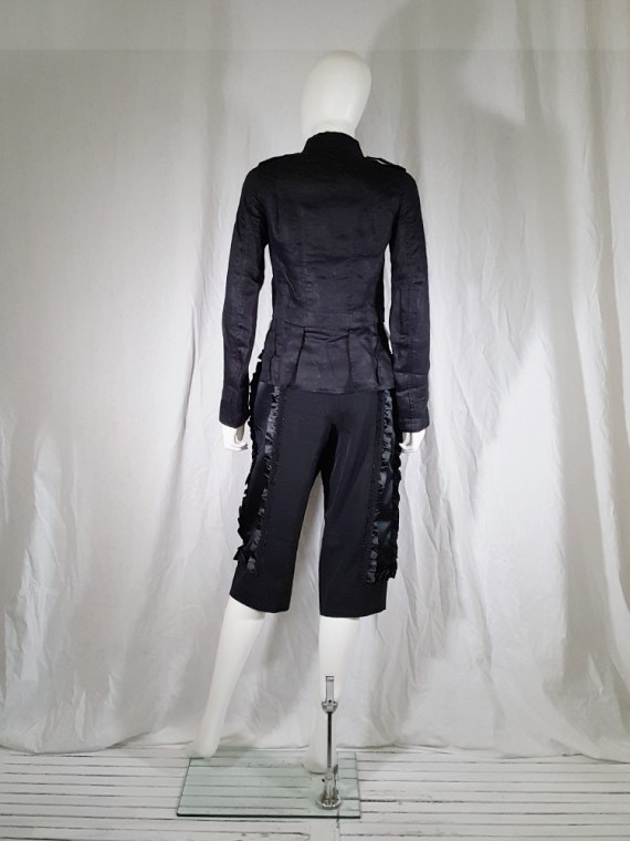 vintage Comme des Garcons black trousers with ruffles back panels fall 2008 134423