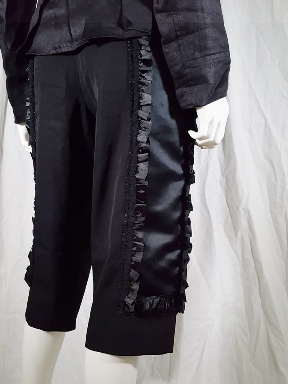 vintage Comme des Garcons black trousers with ruffles back panels fall 2008 134522