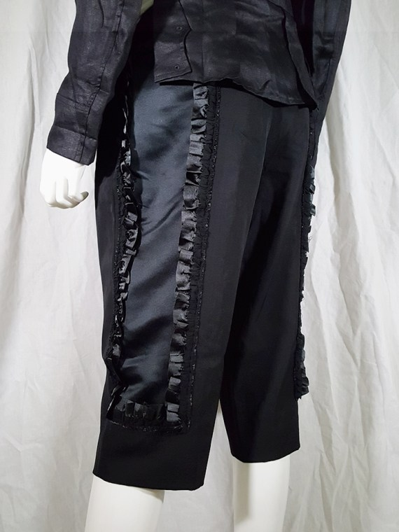 vintage Comme des Garcons black trousers with ruffles back panels fall 2008 134554