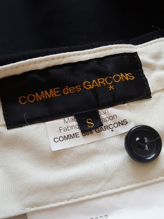 vintage Comme des Garcons black trousers with ruffles back panels fall 2008 175406