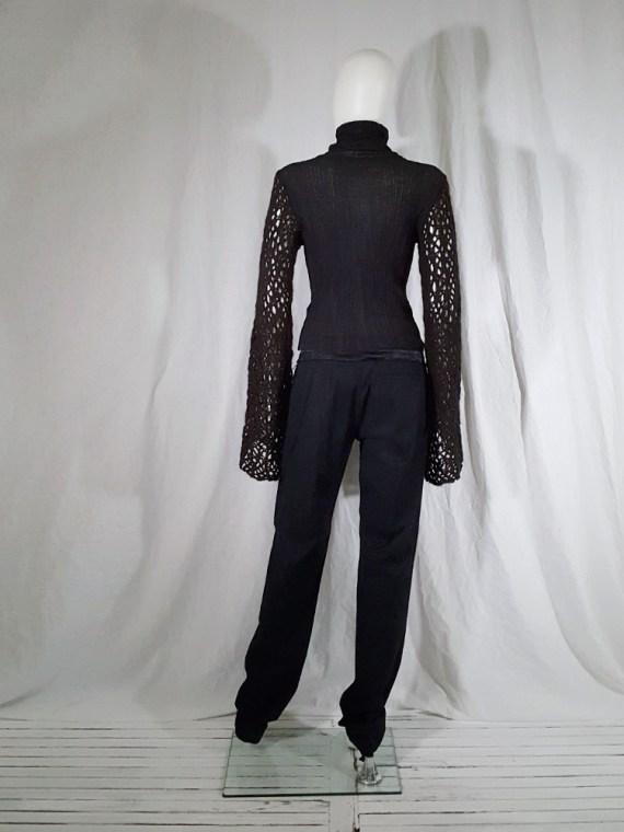 vintage Dries Van Noten black wide sleeved jumper 143437