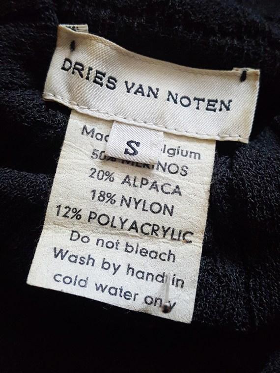 vintage Dries Van Noten black wide sleeved jumper 160610