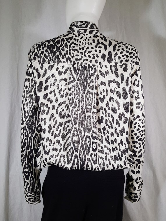 vintage Haider Ackermann leopard blouse with bowtie fall 2015 153416
