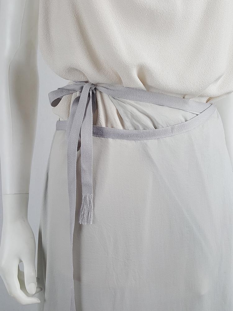 Haider Ackermann light blue maxi skirt