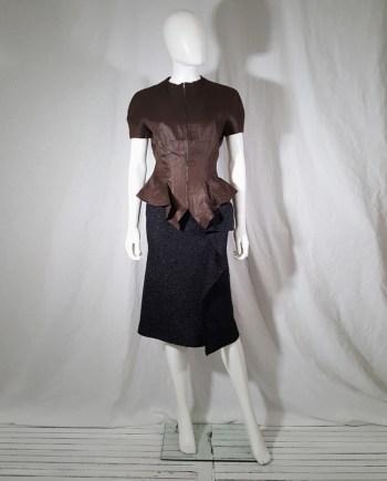 Yohji Yamamoto eggplant short sleeved jacket — spring 2000