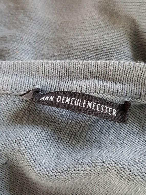 Ann Demeulemeester blue wrap around top — spring 1999
