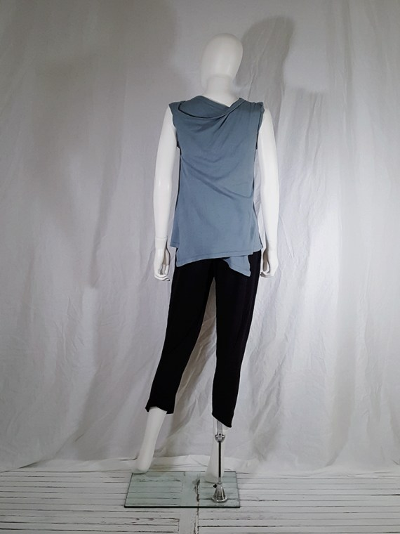 Ann Demeulemeester blue wrap around top — spring 1999