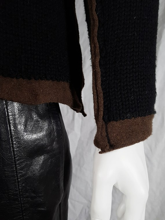 vintage Comme des Garcons Shirt black and brown double layered jumper 145630