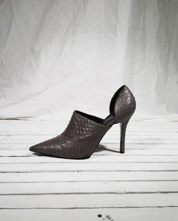 Haider Ackermann grey snake leather pumps (41) — spring 2008