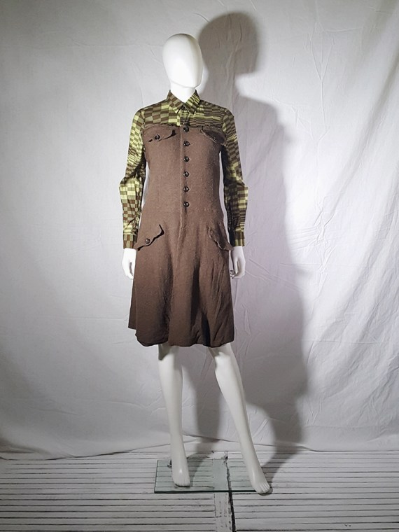 Comme des Garcons brown strapless button up dress fall 1994 170558