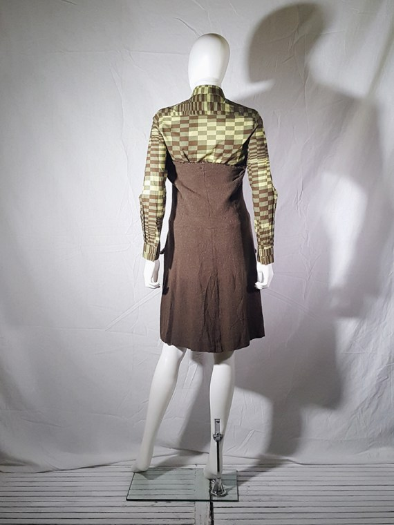 Comme des Garcons brown strapless button up dress fall 1994 170731