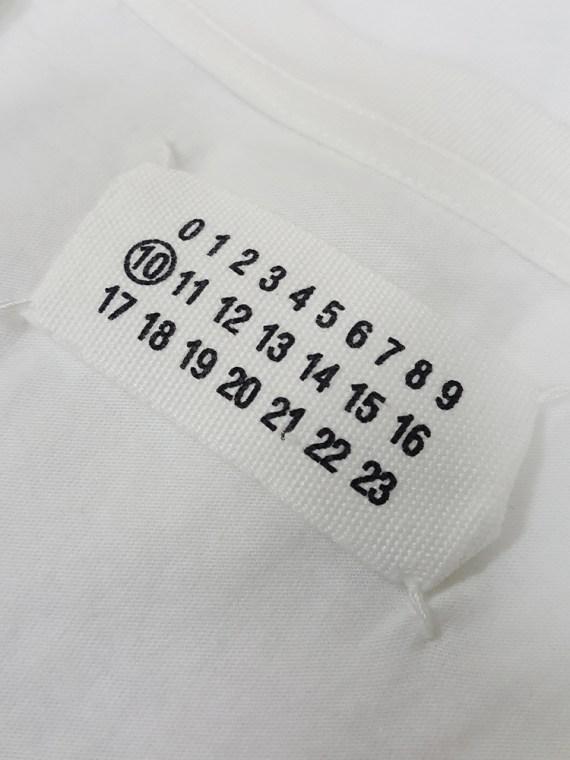 Maison Martin Margiela white t-shirt with key print fall 2009 181649