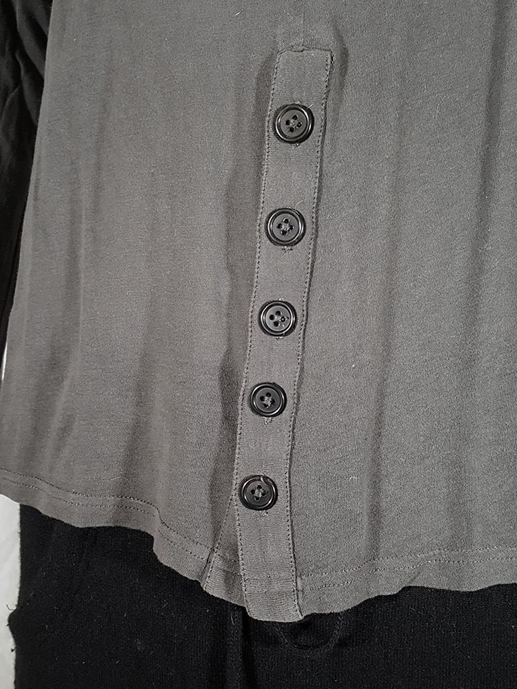 Ann Demeulemeester grey-green longsleeve with front button detail