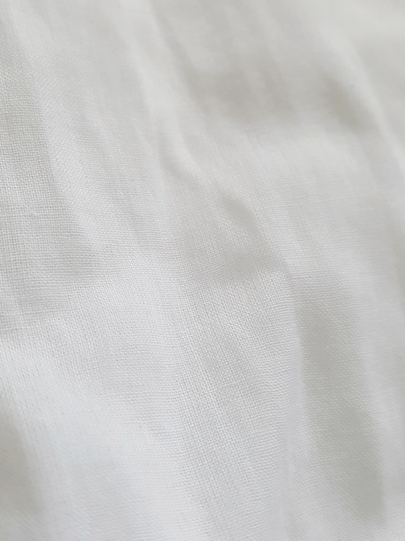 vintage Dries Van Noten white poet blouse with long scarf collar 152431
