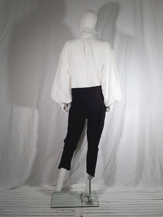 vintage Dries Van Noten white poet blouse with long scarf collar 162543