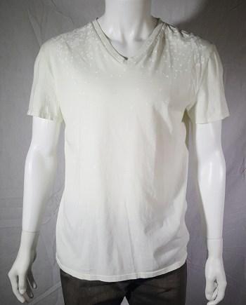 Maison Martin Margiela white confetti print t-shirt — spring 2009