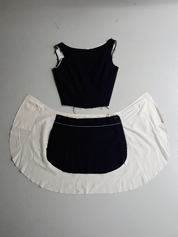 vintage Comme des Garcons black and white top and apron spring 1998 2056