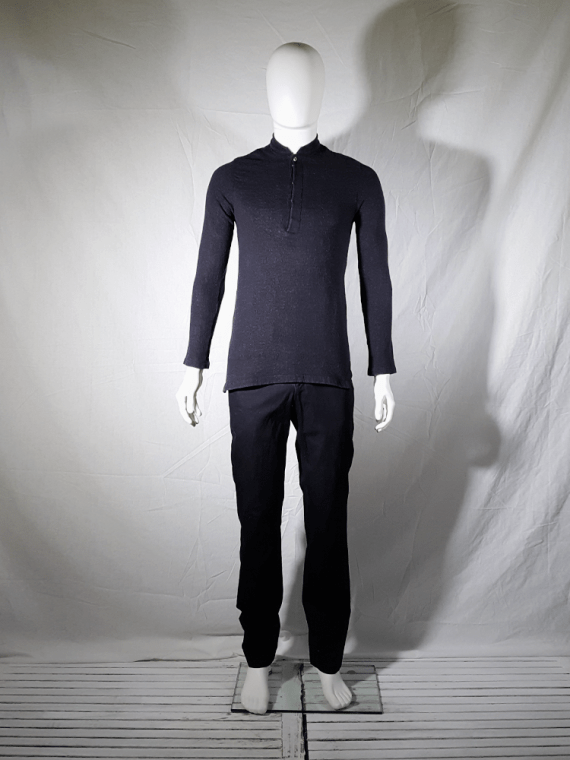 vintage Ys for men grey jumper with mao collar 1990s 150854