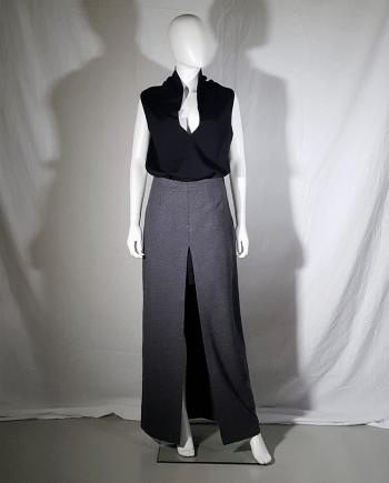 Maison Martin Margiela grey front slit skirt — fall 1999