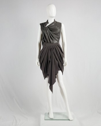 Haider Ackermann brown draped skirt — fall 2009