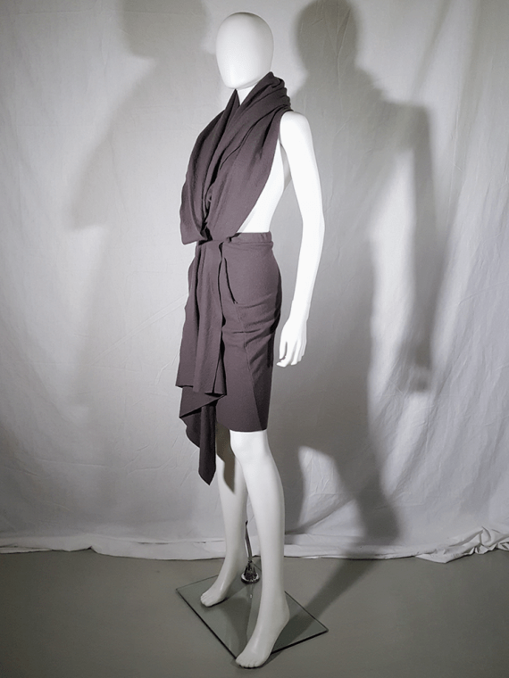 vintage Haider Ackermann brown draped dress or skirt runway fall 2009 193611