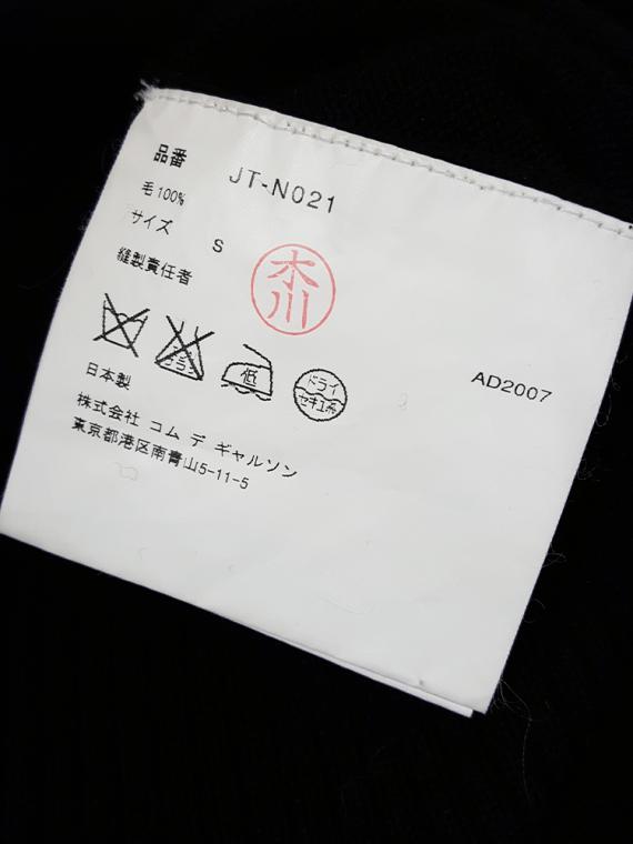 vintage Junya Watanabe black twisted jumper fall 2007 165937