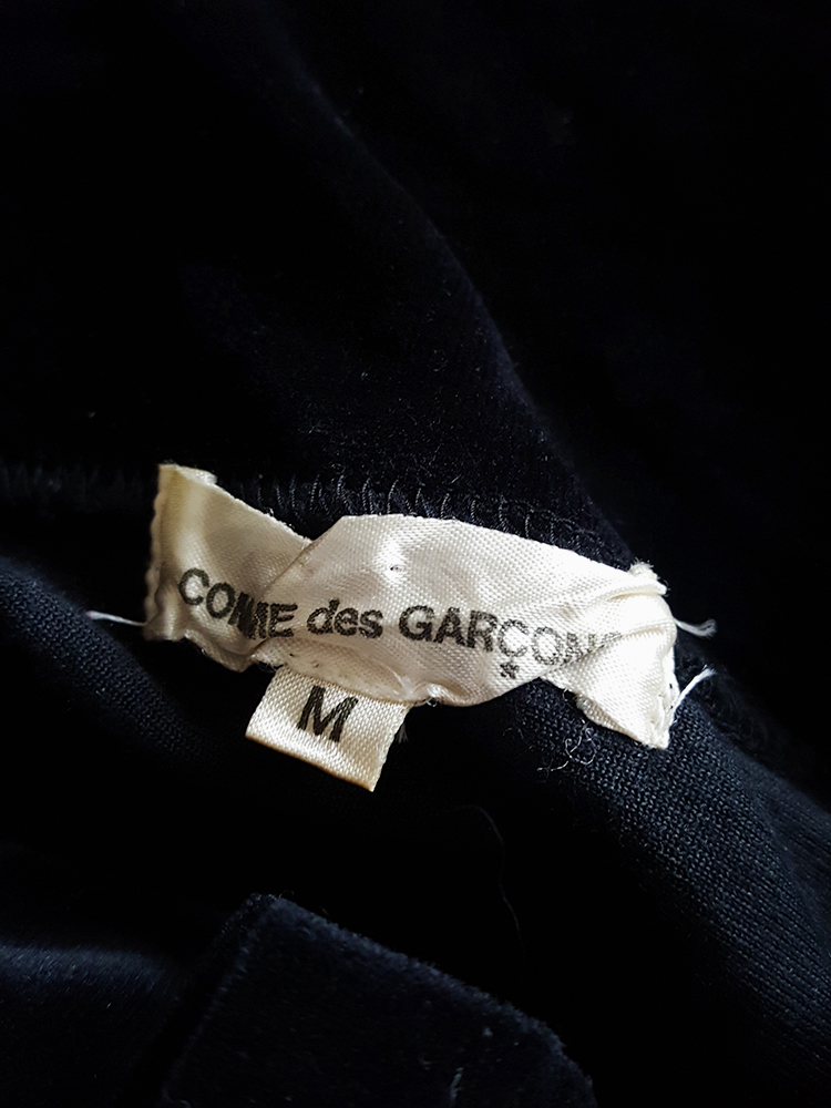 archive Comme des Garcons dark blue velvet twisted top fall 2002 122413