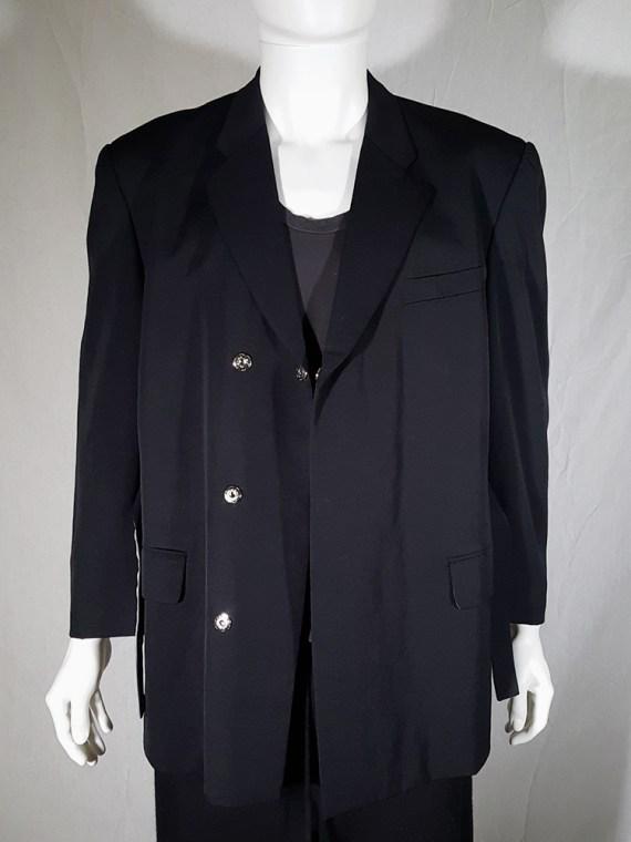 vintage Comme des Garcons Homme black belted blazer AD 1994 180235