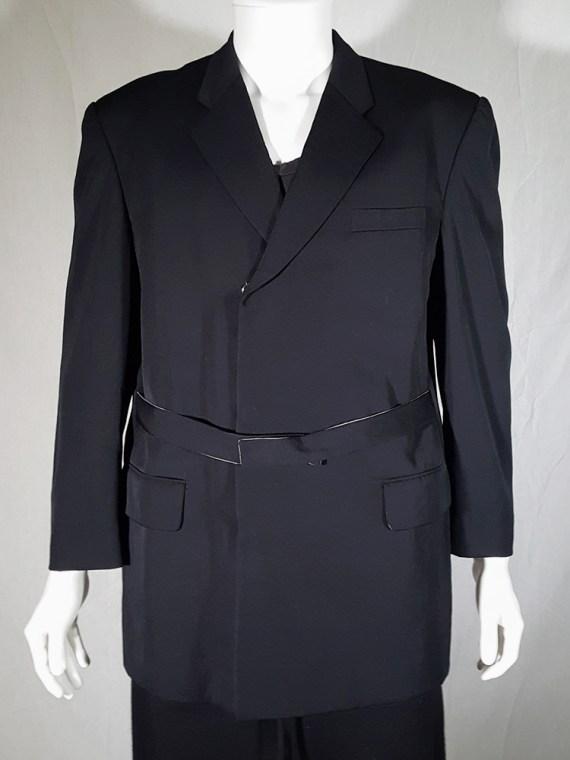 vintage Comme des Garcons Homme black belted blazer AD 1994 180409