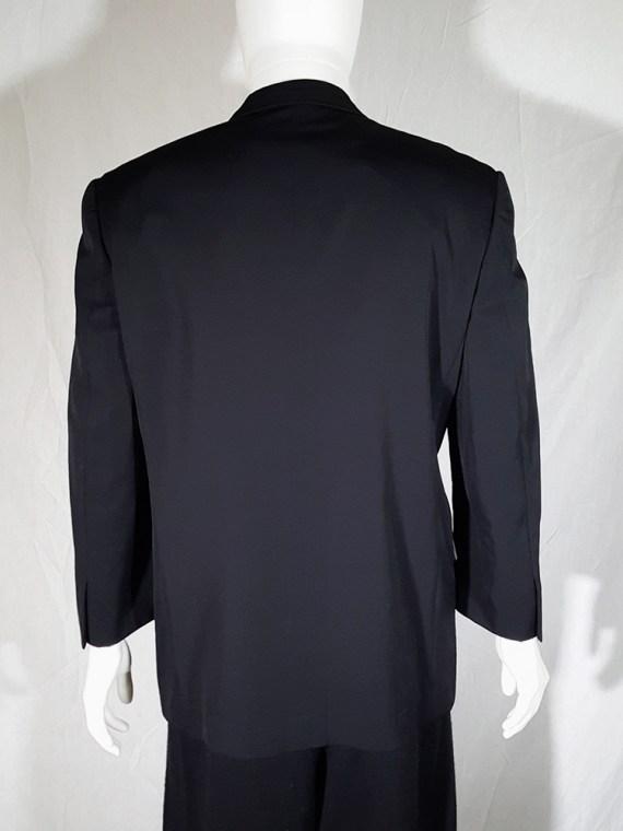 vintage Comme des Garcons Homme black belted blazer AD 1994 180538