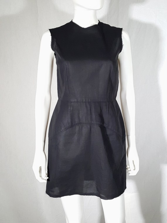 vintage Comme des Garcons black dress with padded hips fall 1998 182230