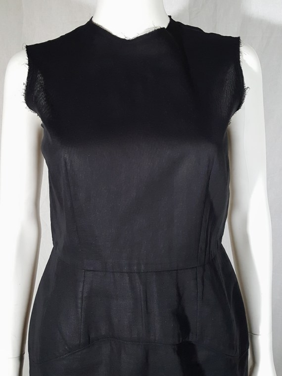 vintage Comme des Garcons black dress with padded hips fall 1998 182239