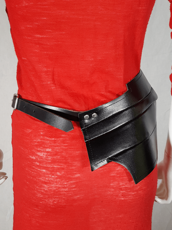 Comme des Garçons black wide sculptural belt — spring 2010