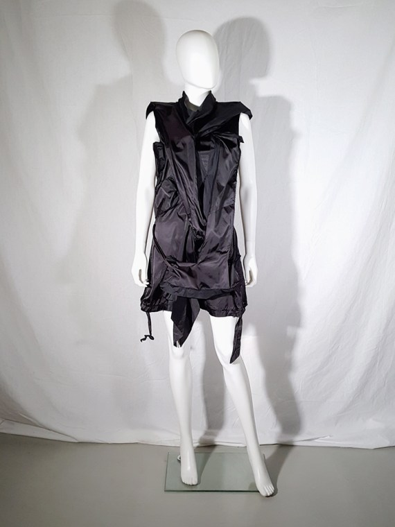 vintage Issey Miyake black dress with 3D block panels 181517