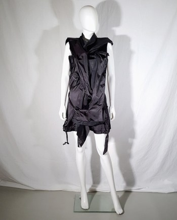 Issey Miyake black dress with 3D block panels
