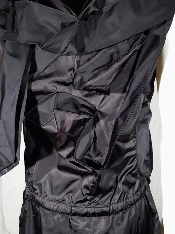 vintage Issey Miyake black dress with 3D block panels 181715