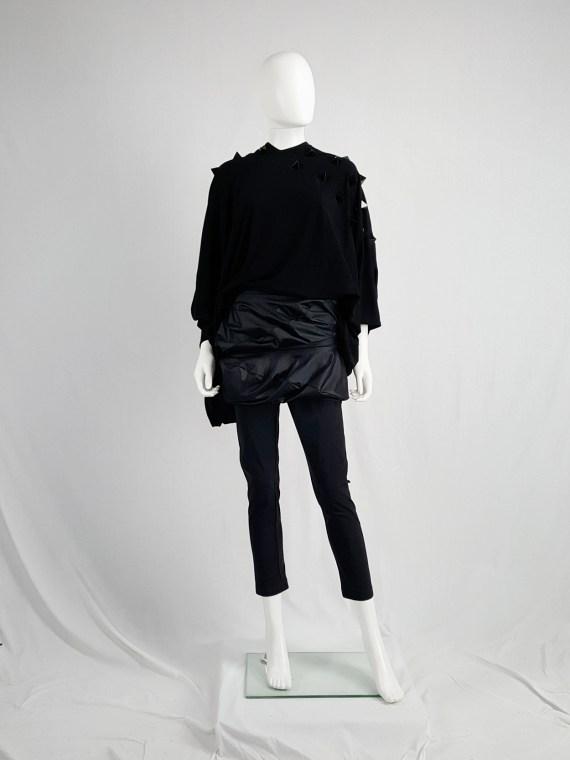 vintage Junya Watanabe black leggings with geometrical skirt fall 2009 140252